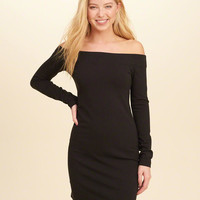 Girls Off-The-Shoulder Knit Bodycon Dress | Girls New Arrivals | HollisterCo.com