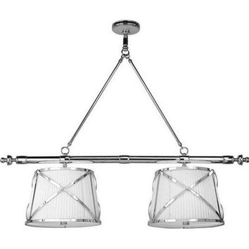 Pre-owned Visual Comfort Chart Double Pendant Light