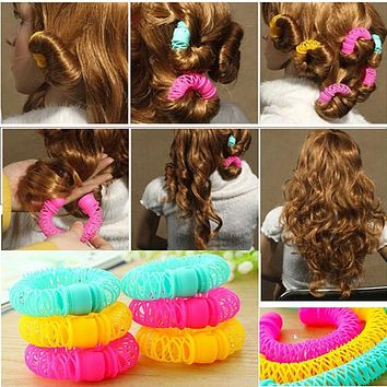 8Pcs New Magic Hair Donuts Hair Styling Roller