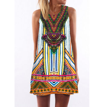 Womens Boho Paisley Halter Dress
