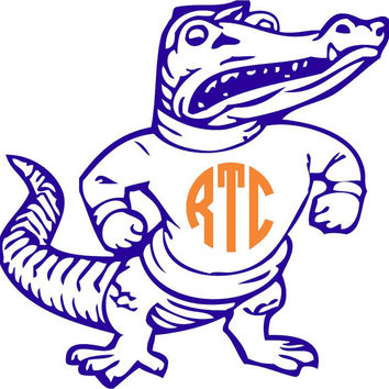 Florida Gators Albert Monogram Sticker ~ Custom ~ Vinyl ~ Decal ~ State