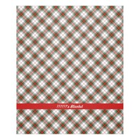 Christmas Plaid ~ Personalized Fleece Blanket