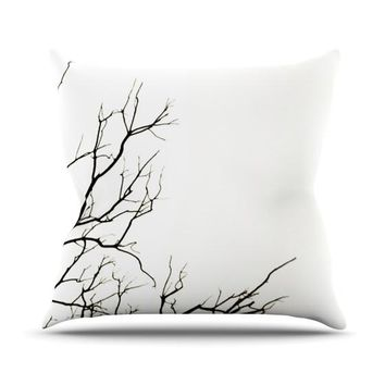 "Skye Zambrana ""Winter"" Outdoor Throw Pillow - Outlet Item"