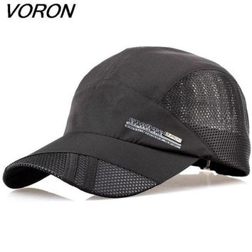DCCKU62 VORON 2017 summer quick-drying mesh hat breathable unisex outdoor sunshine sport climbing cap recovery baseball cap