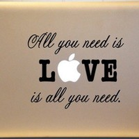 Macbook Decal All You Need is LOVE ORIGINAL Detailed Design BEATLES
