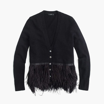 J.Crew Womens Collection Feather Cardigan Sweater