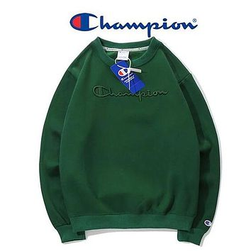 Champion Unisex Fashion Casual Pattern Print Long Sleeve Top Sweater Sweatshirt