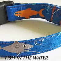 Fish In The Water Vacation Dog & Cat Collar