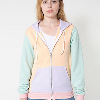American Apparel - Unisex Flex Fleece Color Block Zip Hoodie