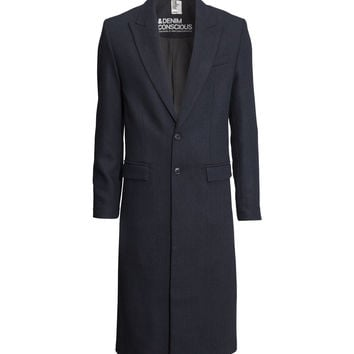 H&M - Wool-blend Coat - Dark blue - Men