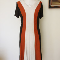 Vintage 1960s Striped Knit Dress