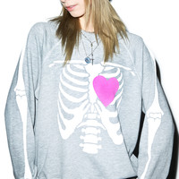 Wildfox Couture My Beating Heart Kim's Sweater Vintage Lace