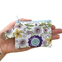 Small Cloth Wallet, Keychain Coin Pouch, Cloth Change Purse
