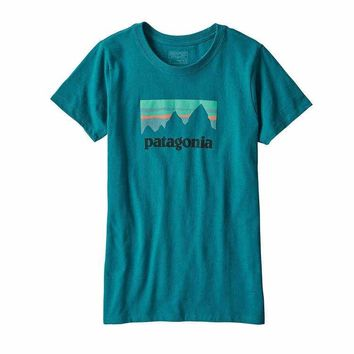 Patagonia Women's Shop Sticker Cotton/Poly Responsibili-Tee™