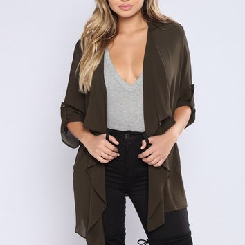 Light As A Feather Jacket - Olive