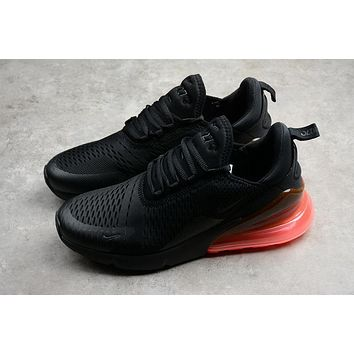 nike air max 270 black orange running shoes ah8050 010