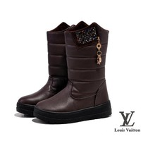 Louis Vuitton Women Fashion Leather In Tube Boots Shoes