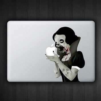 "Zombie Snow White 13.3"" Macbook Decal Macbook Sticker Air Pro Vinyl Decal Sticker Skin for Apple Laptop"