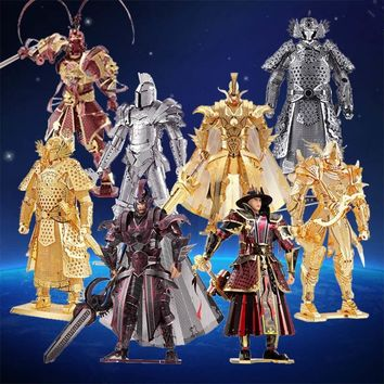 Piececool 3D Metal Puzzle Toy DIY Simulation Black Knight General Soldier Figure Model Metal Puzzles For Adults
