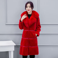 Women Fur Jacket  Men's High-end Fas Winter Coat Women Fur Coat Women Cultivate One's Morality Plus-size Faux Mink Fur Coat
