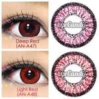 GEO Color Nine red Circle Lens Cosmetic Big Eye Colored Contacts Lenses | EyeCandy's