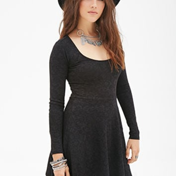 Matelassé Skater Dress