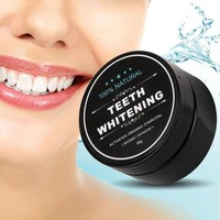 New Teeth Whitening Scaling Powder Oral Hygiene Cleaning Packing Premium Activated Bamboo Charcoal Powder Food Grade +Gift Necklace