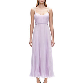 Jill Jill Stuart Pleated Silk Tea Dress