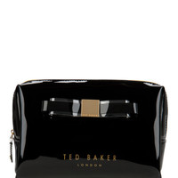 Large bow wash bag - Black | Gift Accessories | Ted Baker UK