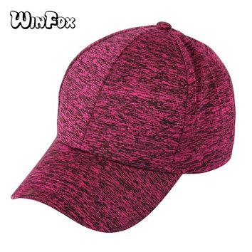 Trendy Winter Jacket Winfox Luxury Brand Casual Red Blue Women Men's Baseball Cap Hip Hop Adjustable Caps Snapback Dad Trucker Fitted Hats Bone AT_92_12