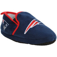 New England Patriots Official NFL 8-16 Youth Sherpa Slippers