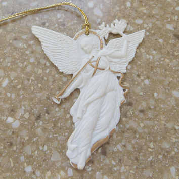 Wedgwood Angel Ornament White Jasperware Peace Angel Vintage Wedgwood Christmas Original Box