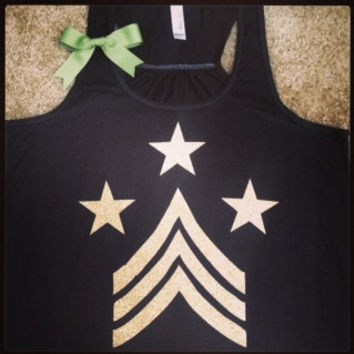 Military Inspired Racerback Tank