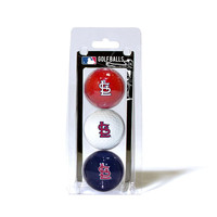 St. Louis Cardinals MLB 3 Ball Pack