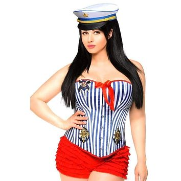 Daisy 3 PC Pin-Up Sailor Girl Costume