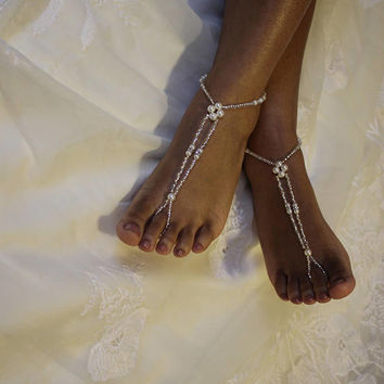 Barefoot Sandal Foot Jewelry Wedding Sandals Bridal Beach Wedding Jewelry Beach Wedding Barefoot Sandals