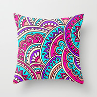 Melody Throw Pillow by PeriwinklePeacoat