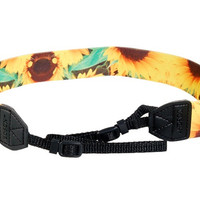 Sunflower Print Adjustable Camera Strap