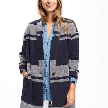 Twill Cardi-Coat for Women | Old Navy
