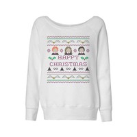 Harry Potter Happy Christmas Wideneck Sweatshirt