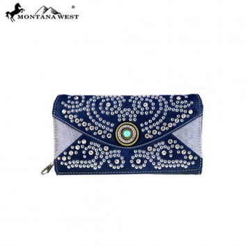 Bling Bling Secretary Style Wallet by Montana West MW452-W010