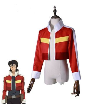2018 Voltron:Legendary Defender Keith Red Jacket for women men Halloween cosplay costume Top Coat Outfit