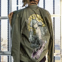 FOREST SPIRIT Sheer Bomber Jacket