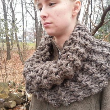 Outlander inspired cowl, super chunky knit, made to order choice of colors