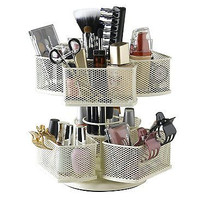 Cosmetic Organizing Carousel Storage Bathroom Make Up Vanity New Free