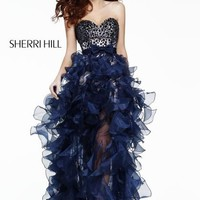 21158 Sherri Hill High Low Dress