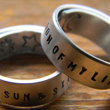 game of thrones inspired TWO wrap rings ''my sun and stars'' &'' moon of my life''