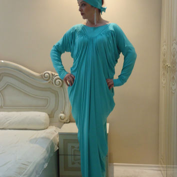 Dubai Very Fancy Kaftans abaya jalabiya Ladies Maxi Dress قفطان +HEAD SCARF /all sizes Free international shipping