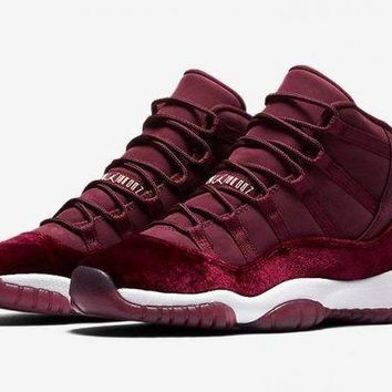 DCCKD9A Air Jordan Retro XI 11 'Red Velvet' Boys GS