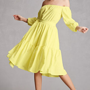 Off-the-Shoulder A-Line Dress